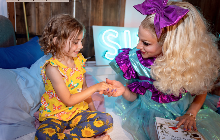"The Sun ""READ THE QUIET ACT CBB winner Courtney Act reads children bedtime stories as research shows more than half feel unaccepted"""